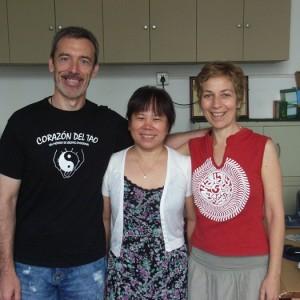 Con Raquel y nuestra profesora en la Universidad de MTC de Beijing (Julio 2014)